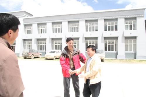 西藏水利厅副厅长,旁多建管局局长骆涛热诚接待了匡院长